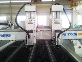 machine cnc router double tête