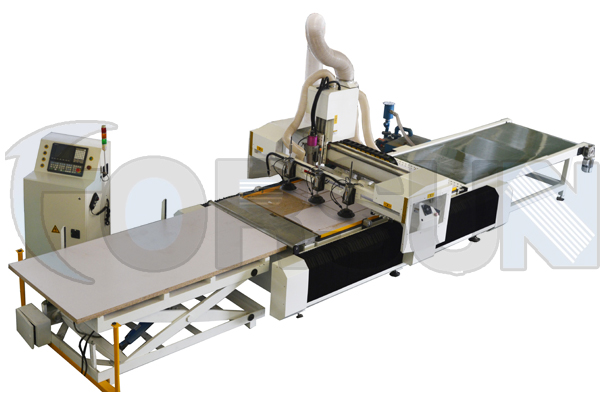 Auto feeding CNC Rouer with loading and unloading